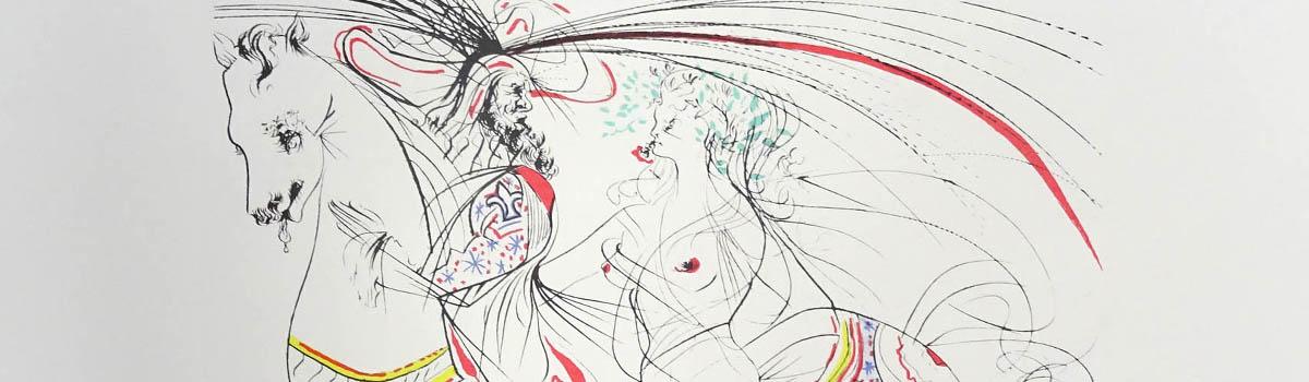 Subasta de grabados y litografías de Salvador Dalí