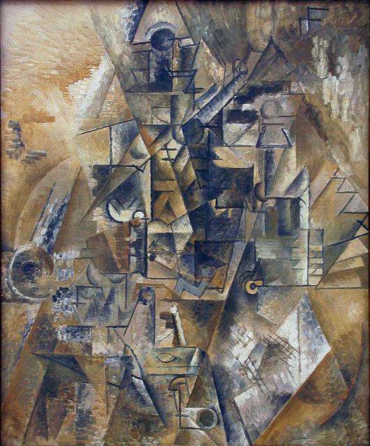 Picasso Naturaleza muerta con Clarinete