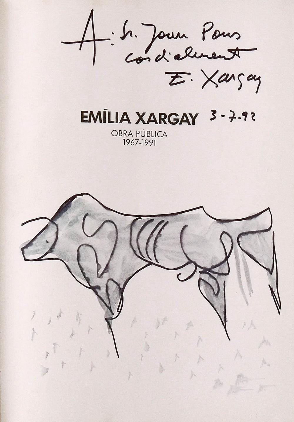 Emília Xargay. Dibujo en catálogo