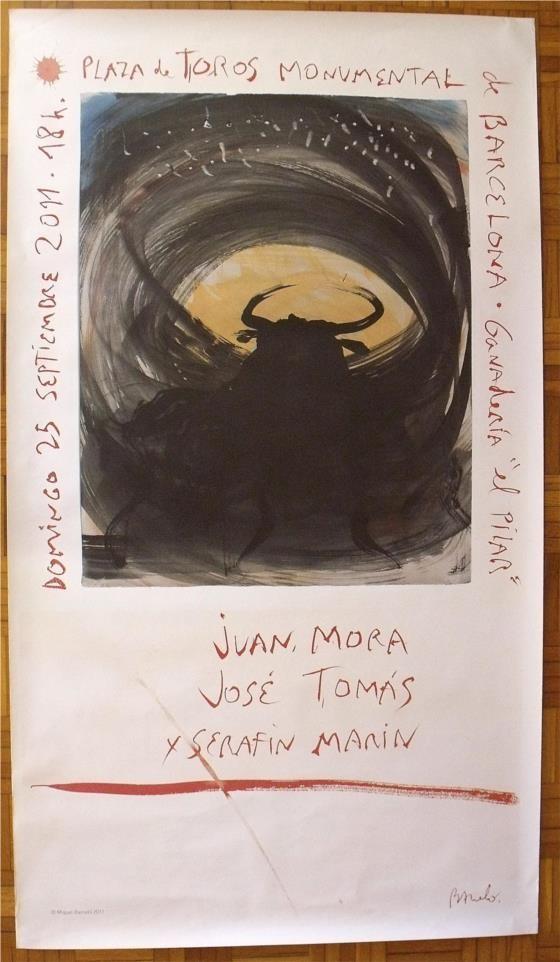 Miquel Barceló. Última corrida de toros en la Monumental