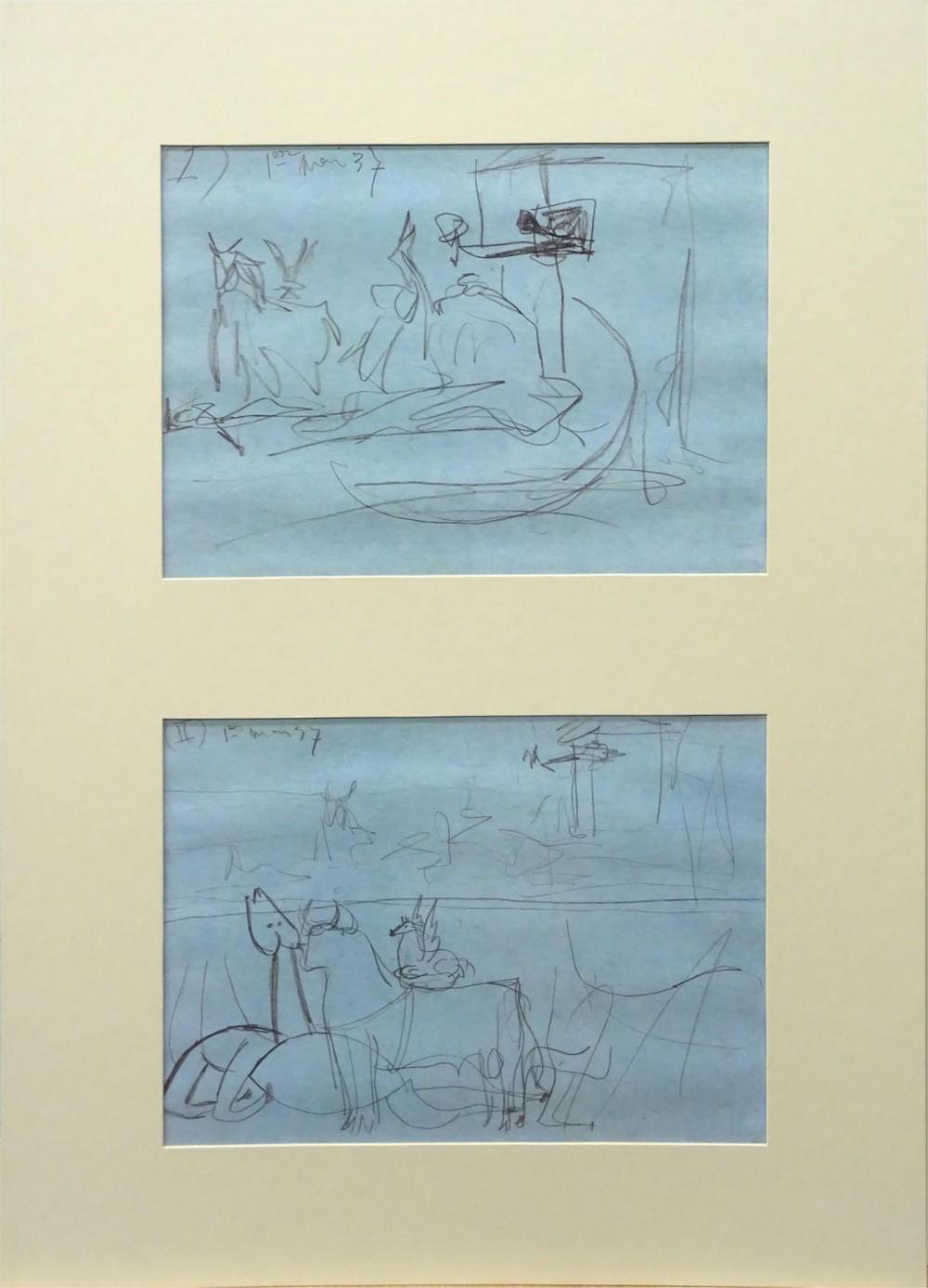 Pablo Picasso. Bocetos para el Guernica
