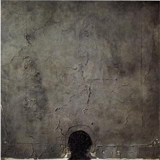 Forma Negra sobre Cuadrado Gris (1960) - Antoni Tàpies