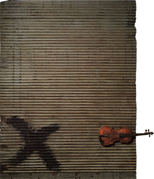 Puerta Metálica y violín (1956) - Antoni Tàpies