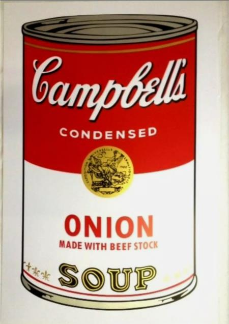 Andy Warhol: ONION.Campbells soup.