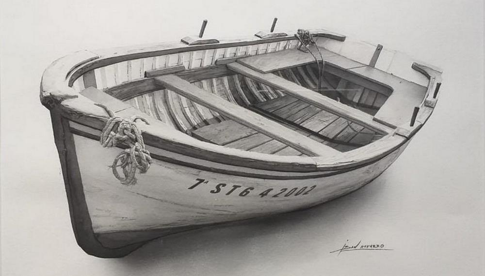 Barcos de papel, acuarela y lienzo