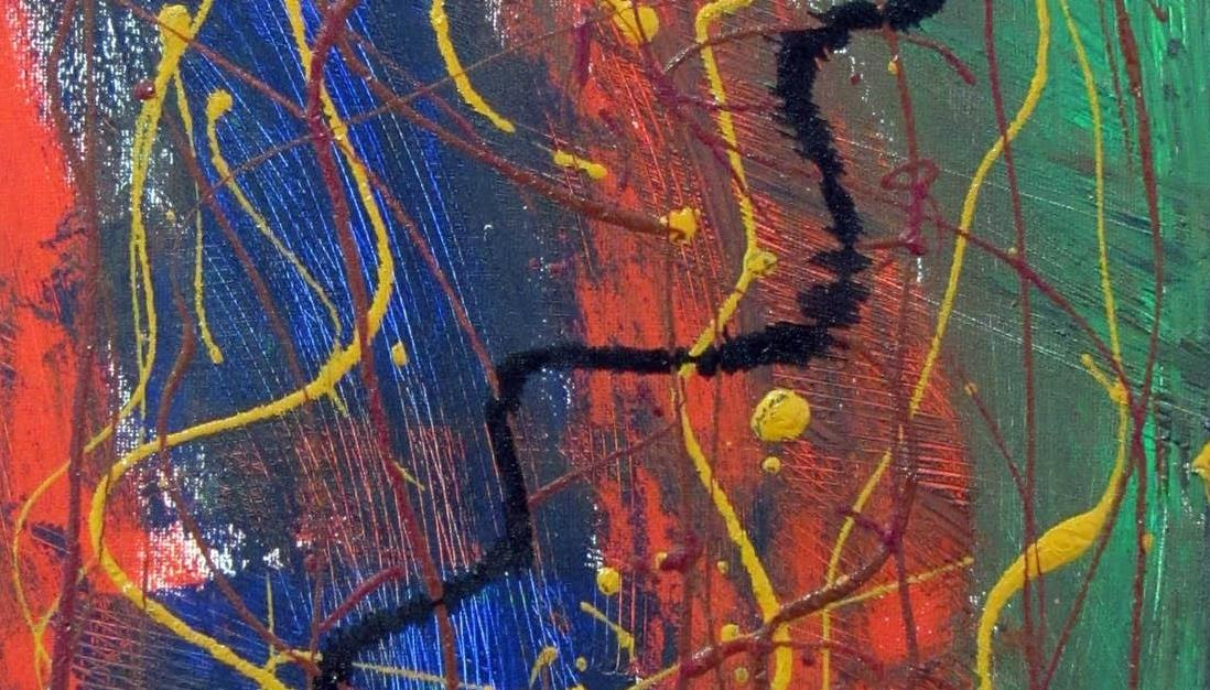 Arte a base de rayas y cuadros