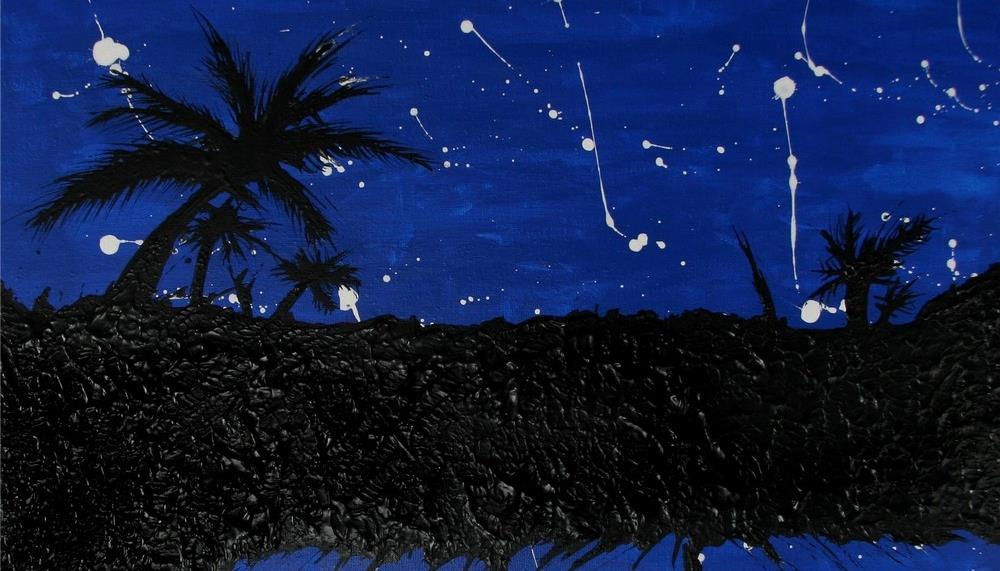 El arte nocturno de lunas y estrellas