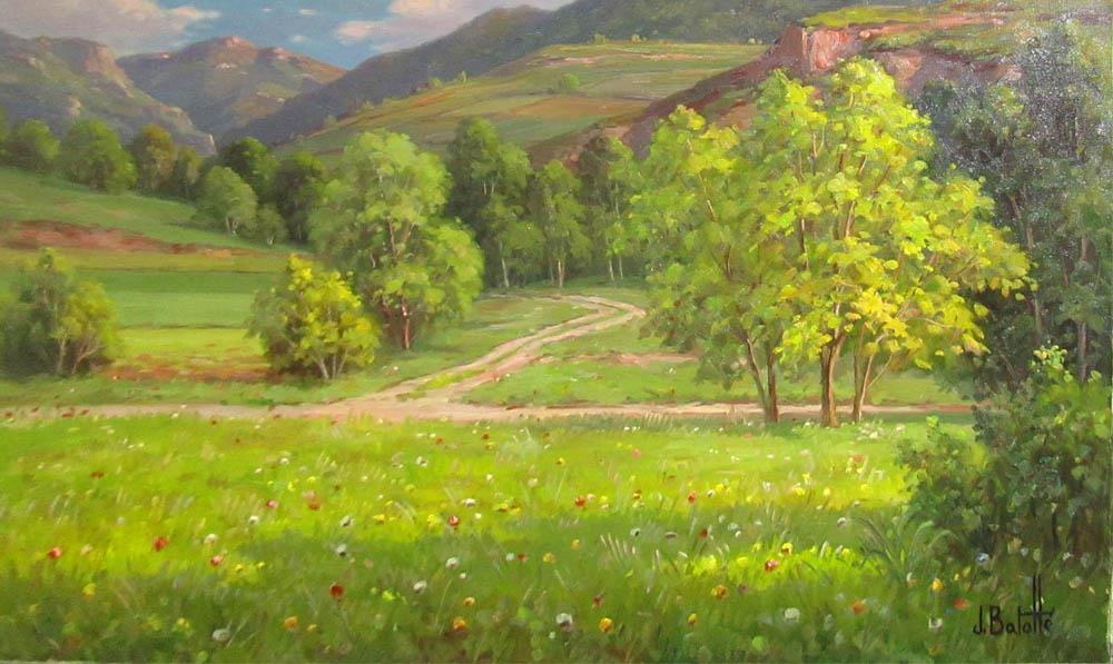 La pintura de Juli Batallé Murla: luz y color en los paisajes de Olot