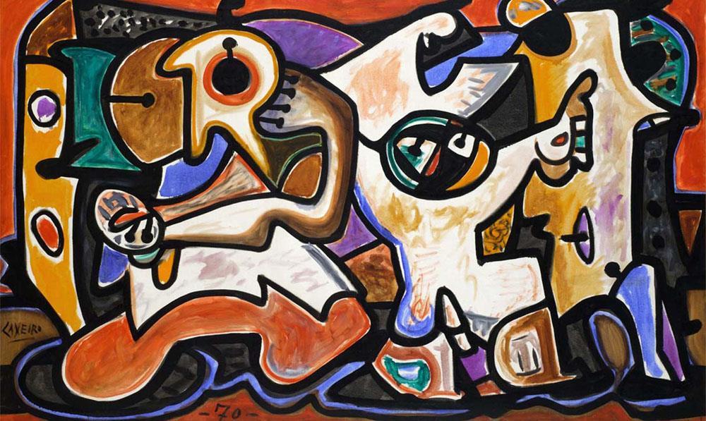 La mirada irónica de Laxeiro, entre el expresionismo costumbrista y la abstracción surrealista.
