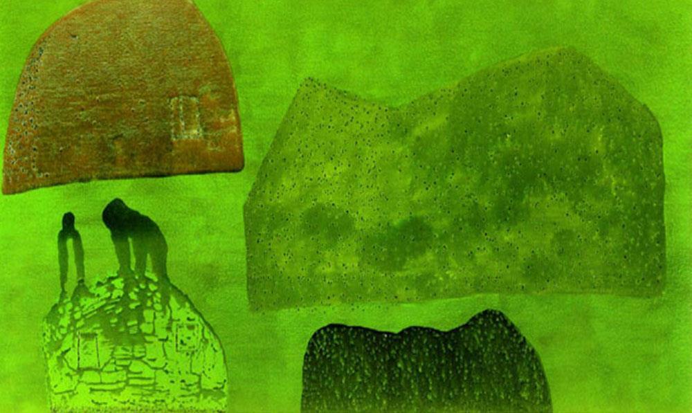 La pintura matérica de Antón Lamazares, o el arte de embalsamar el recuerdo