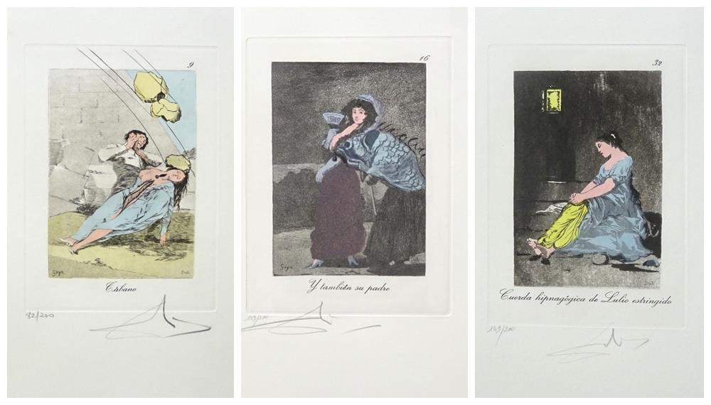 Los Caprichos de Goya reinterpretados por Dalí